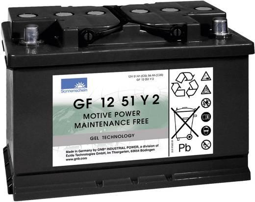 EXIDE zselés akkumulátor, 12 V 51 Ah, CYCLIC GF-Y-2