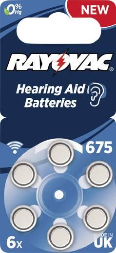 ZA675 hallókészülék elem, cink-levegő, 1,4V, 640 mAh, 6 db, Rayovac ZA675, PR44