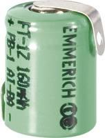 Forrasztható 1/3 AAA akku NiMH 1,2V 160 mAh, forrfüles, Emmerich FT-1Z Emmerich