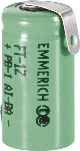 Forrasztható 1/2 AAA akku NiMH 1,2V 330 mAh, forrfüles, Emmerich FT-1Z