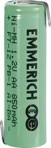 Forrasztható ceruza akku AA NiMH 1,2V 850 mAh, forrfüles, Emmerich FT-1Z (255023) Emmerich
