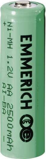Ceruza akku AA, NiMH, 1,2V 2500 mAh, Emmerich LR06, AA, LR6, AAB4E, AM3, 815, E91, LR6N