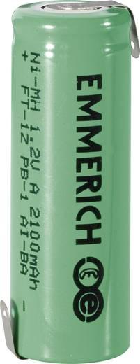 Forrasztható speciális akku A NiMH 1,2V 2100 mAh, forrfüles, Emmerich FT-1Z