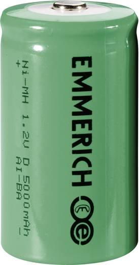 Góliát akku D NiMH, 1,2V 5000 mAh, Emmerich HR20, LR20, D, AM1, XL, MN1300, 813, E95, LR20N, 13A