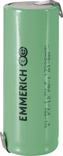 Forrasztható speciális akku NiMH 1,2V 13000 mAh, forrfüles, 91 x 32,5 mm, Emmerich F ZLF
