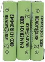 Akkucsomag, mikro, Emmerich Ready to Use 800 mAh, 3, mikro (AAA), NiMH, 3.6 V, 1 db, ReadyToUse mikro (255062) Emmerich