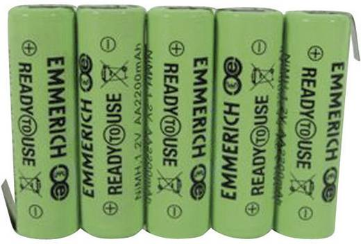Akkucsomag, ceruza, Emmerich Ready to Use2200 mAh, 5, ceruza (AA), NiMH, 6 V, 1 db, ReadyToUse ceruza;