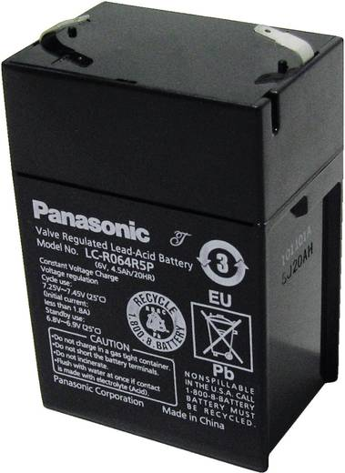 Ólomakku 6 V 4,2 Ah, Panasonic LC-R064R5P
