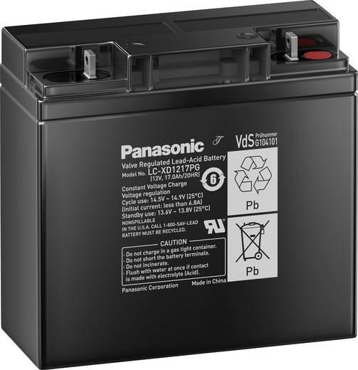 Panasonic karbantartás mentes zselés akkumulátor, 12 V 17 Ah