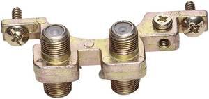 F csatlakozós földelőblokk 2x F alj - 2x F alj, ezüst, Renkforce 403405 Renkforce