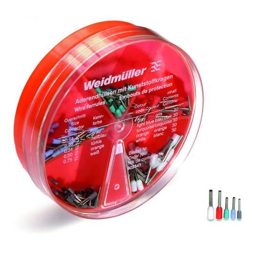 Érvéghüvely készlet, 0.14 mm² 0.75 mm² Szürke, Világoskék, Türkiz, Narancs, Fehér Weidmüller 9025410000 150 Parts