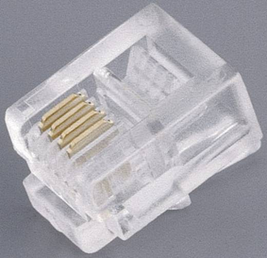 Moduláris dugók Dugó, egyenes Pólusszám: 8P8C 10-NT 004 Átlátszó BKL Electronic Tartalom: 1 db