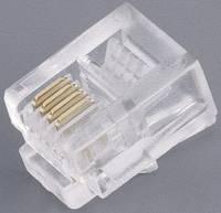 RJ11 moduláris csatlakozó dugó, egyenes, 6P4C, BKL Electronic 142142 (142142) BKL Electronic