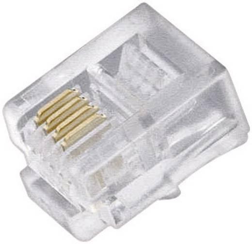 Moduláris dugó készlet Dugó, egyenes Pólusszám: 4P4C Átlátszó Tartalom: 5 db