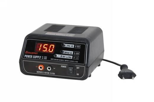 Graupner szabályozott hálózati tápegység 230 V/AC, 300W 5-15V/DC 0-15A, 6458