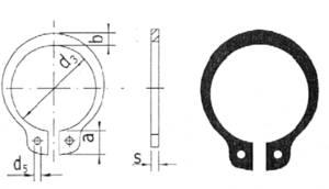Tengelybiztosító gyűrű, tengely ∅: 8 mm, 20 db, Reely Reely
