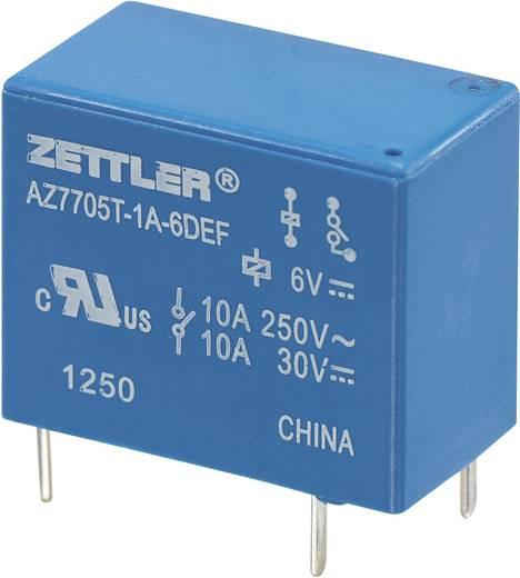Miniatűr teljesítményrelé AZ7705, 5 A Zettler Electronics AZ7705T-1A-6DEF 6 V/DC 1 záró 5 A 30 V/DC/265 V/AC