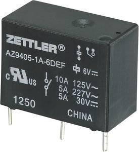 Miniatűr teljesítményrelé AZ9405, 10 A Zettler Electronics AZ9405-1A-6DEF 6 V/DC 1 záró 10 A 30 V/DC/277 V/AC Zettler Electronics
