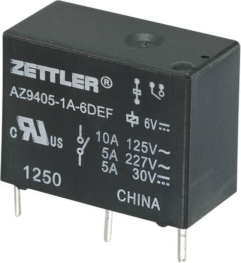Miniatűr teljesítményrelé AZ9405, 10 A Zettler Electronics AZ9405-1A-6DEF 6 V/DC 1 záró 10 A 30 V/DC/277 V/AC
