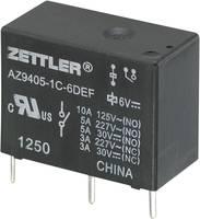 Miniatűr teljesítményrelé Zettler Electronics AZ9405-1C-12DEF 12 V/DC 1 váltó NO 10 A/(NC) 3 A 30 V/DC/277 V/AC (275856) Zettler Electronics