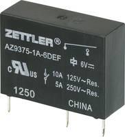 Miniatűr teljesítmény relé AZ9375, 10 A Zettler Electronics AZ9375-1A-12DEF 12 V/DC 1 záró 10 A 30 V/DC/277 V/AC (275862) Zettler Electronics