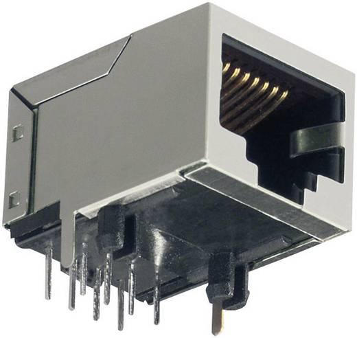 RJ45 SMD beépíthető csatlakozó aljzat, 8P8C, vízszintes, szürke, BKL Electronic