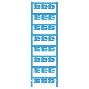 Weidmüller 1062030000 SFC 2.5/12 MC NE BL Kábeljelölő Szerelési mód: felcsíptetés Feliratozó felület: 5.80 x 12 mm Kék J Weidmüller