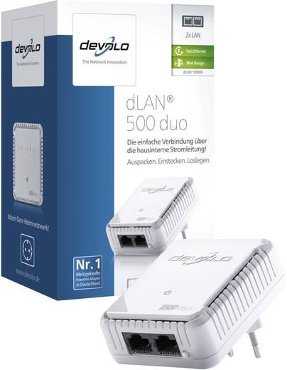 Powerline, konnektoros internet átvivő bővítő egység 500 Mbit/s, Devolo dLAN 500 duo