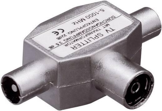 Koax csatlakozós antenna elosztó 5...1000 MHz, 1 be-/2 kimenet, Renkforce 801302