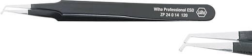Hajlított hegyű SMD csipesz, alkatrész beültető csipesz 120 mm hosszú Wiha ESD 32338