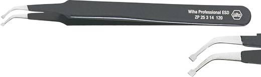 Hajlított hegyű SMD csipesz, alkatrész beültető csipesz 120 mm hosszú Wiha ESD 32337
