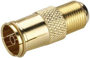 SAT/Antenna adapter, aranyozott, F alj – koax alj, renkforce 403389 Renkforce