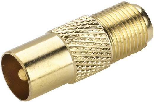 SAT/Antenna adapter, aranyozott, F alj – koax dugó, renkforce 403404