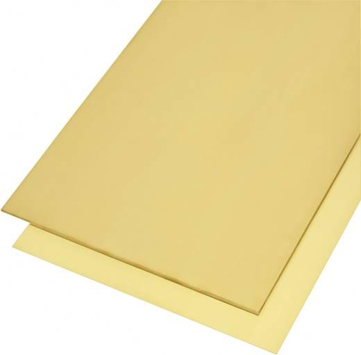 Modelcraft sárgaréz lemez 400 x 200 x 2 mm