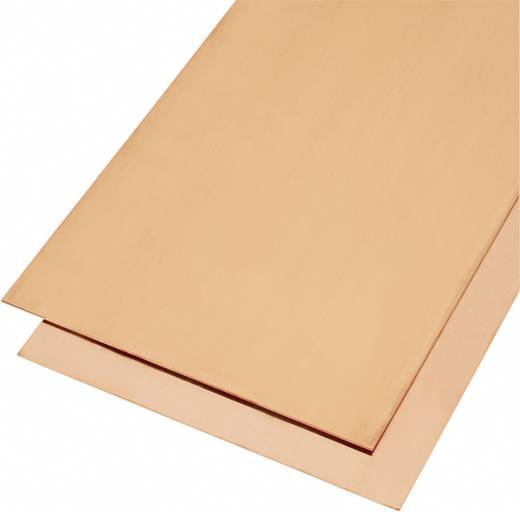 Modelcraft vörösréz lemez 400 x 200 x 0,3 mm