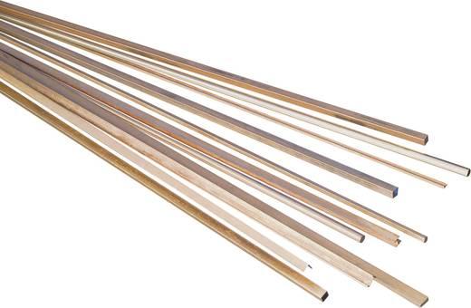 Sárgaréz négyszög profil, 200 x 15 x 15 mm, Reely