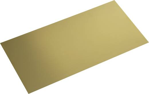 Modelcraft sárgaréz lemez 400 x 200 x 0,3 mm