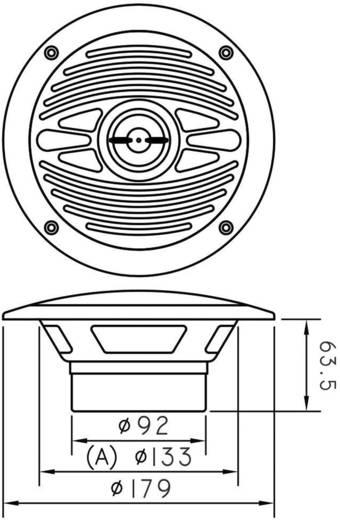 Vízálló hangszóró, Speaka Marine 180/132 mm szürke