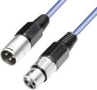 Mikrofonkábel XLR dugó/alj 5 m kék, Paccs Paccs