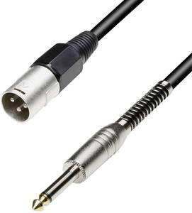 Hangszórókábel 10 m 1,5 mm² XLR dugó - 6,3 jack dugó fekete Paccs Paccs