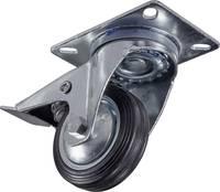 Forgó görgő, fékezhető rack és hangfal görgő, tömörgumi kerékkel Ø 80 mm Y77420