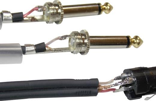 Y kábel 0,6 m, 2 x 6,3 jack dugó/1 x XLR hüvely, fekete, Paccs