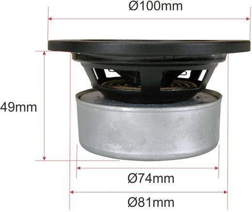 Mennyezetbe építhető hangszóró 25 W/8 Ω, fekete színű SpeaKa DL-1117