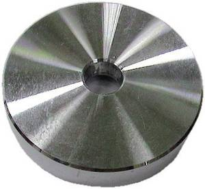 Kislemez központosító gyűrű adapter bakelit lemezekhez fém 302090
