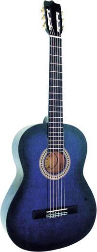 Akusztikus gitár, koncertgitár, 4/4-es méret, kék, C23
