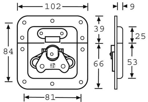 Pillangó zár, (Sz x Ma x Mé) 102x105x9 mm, Mc Crypt