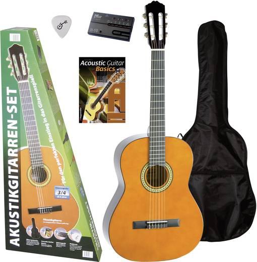 3/4-es gyermek gitár, akusztikus tanuló gitár készlet hordtáskával Voggenreiter