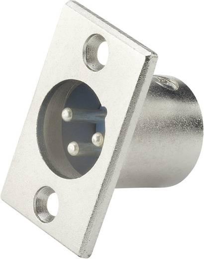 Beépíthető XLR dugó, nikkel, Paccs
