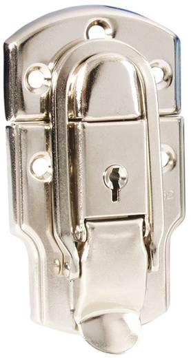 Kofferzár, koffer csat, kulcsos táskazár nikkelből McCrypt 304401