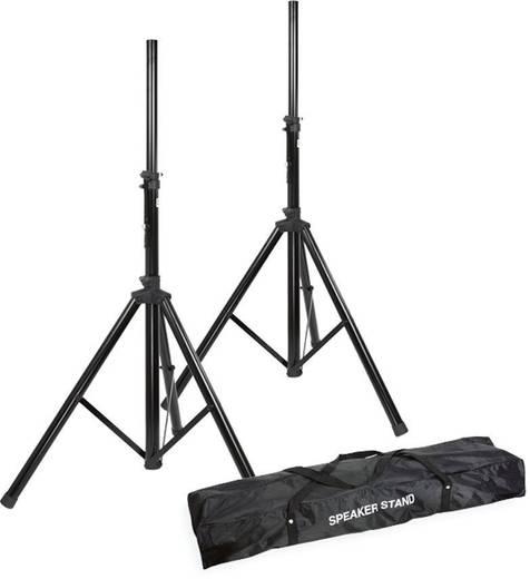 Összecsukható hangfal állvány szett, statív pár hordtáskával 25kg-ig
